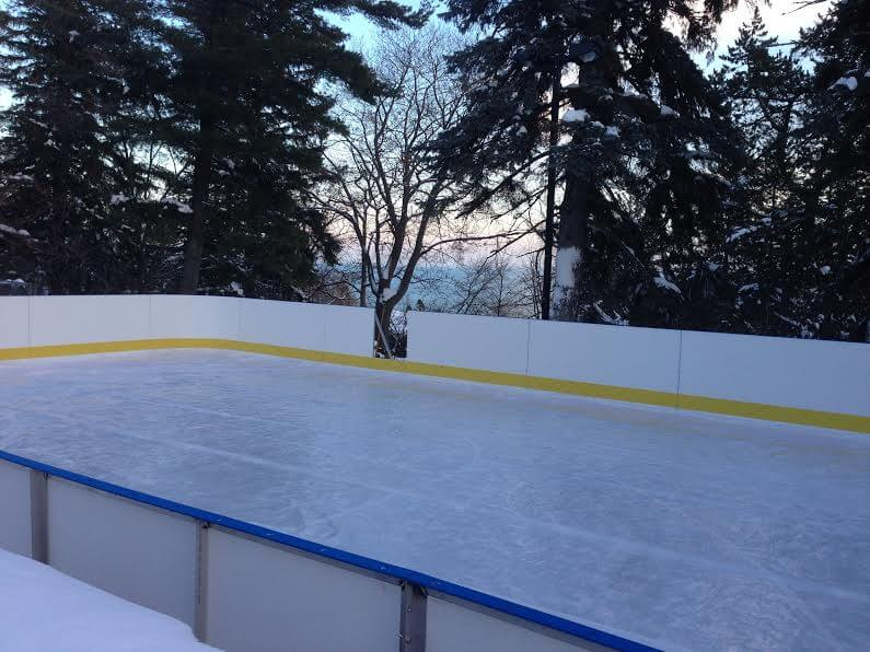 Backyard Ice Rink Liner : Backyard Rinks  Synthetic Ice, Basement or Backyard Rink Kits, Hockey