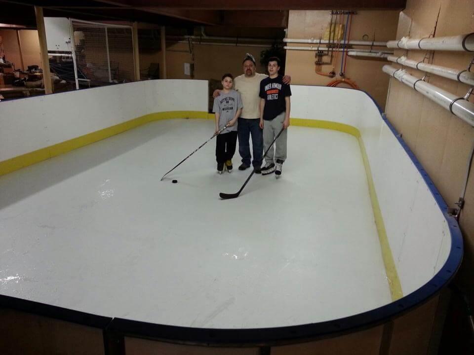 cheap garage gym ideas - D1 Backyard Rinks Synthetic Ice Basement or Backyard