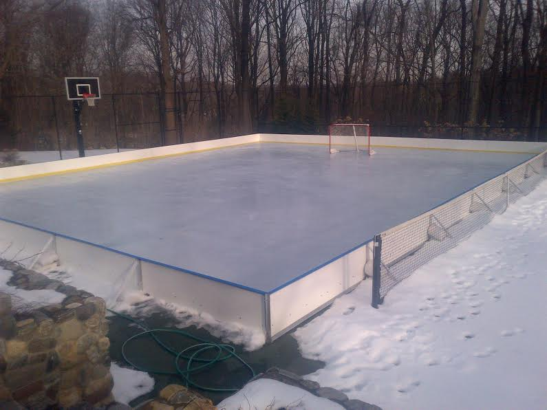 Backyard Rink Ideas : D1 Backyard Rinks  Synthetic Ice, Basement or Backyard Rink Kits