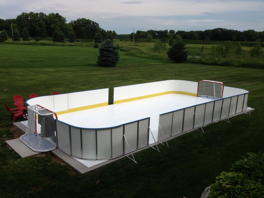 Backyard Rink Boards : Learn More About Hockey Rink Boards  D1 Backyard Rinks