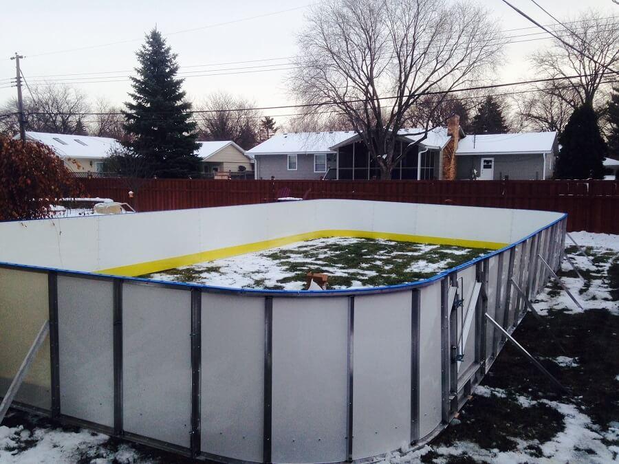 Backyard Ice Rink Kit : Backyard Rinks  Synthetic Ice, Basement or Backyard Rink Kits, Hockey