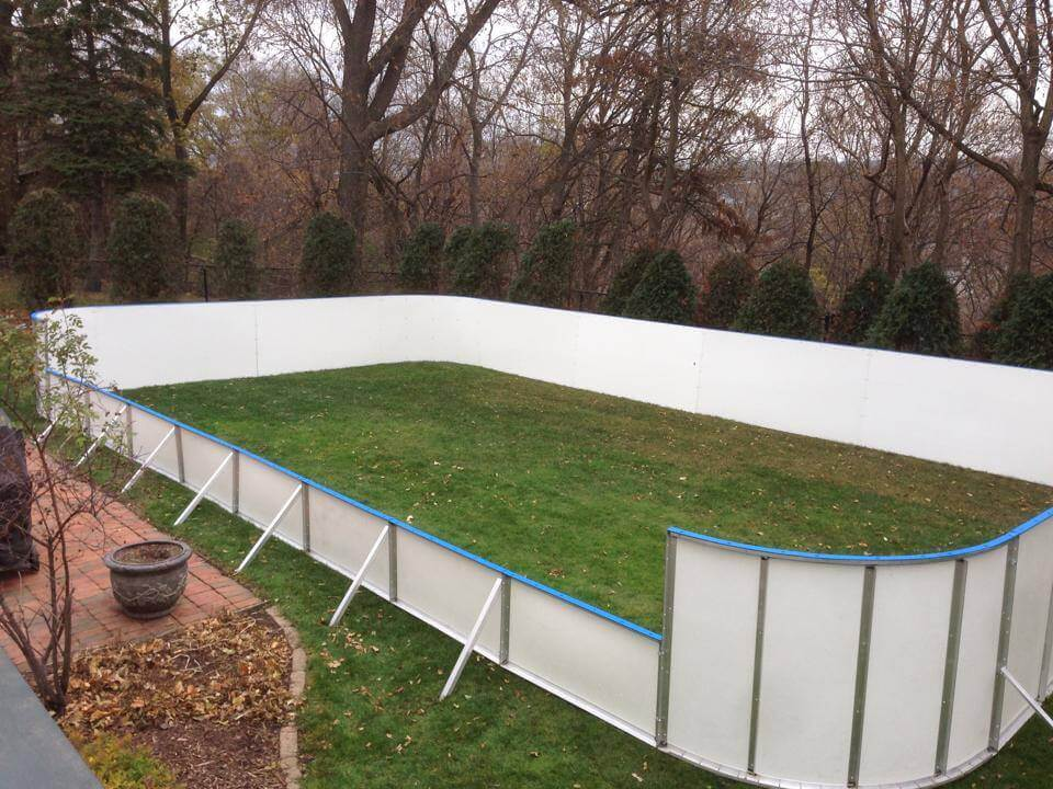 Backyard Rink Boards : Hockey Dasher Boards 4 D1 42? Corners Hardware to Connect the Boards