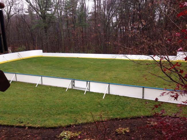 d1 backyard rinks synthetic ice basement or backyard rink kits