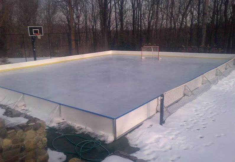 48′ x 56′ Winter Rink Kit 24″ Boards - Learn More About Hockey Boards D1 Backyard Rinks