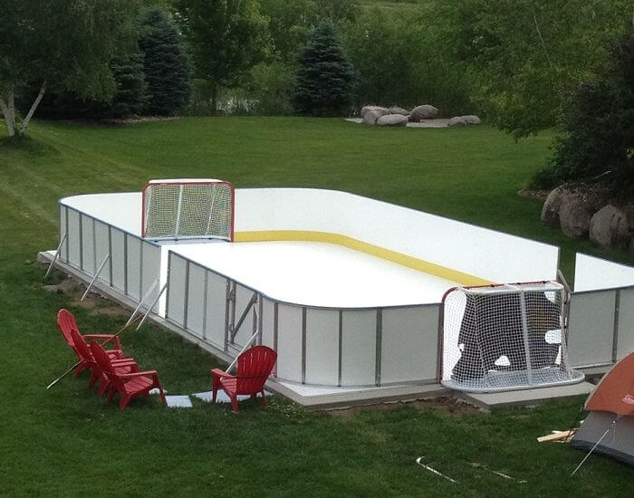 20′ x 40′ Backyard Rink - Learn More About Synthetic Ice D1 Backyard Rinks