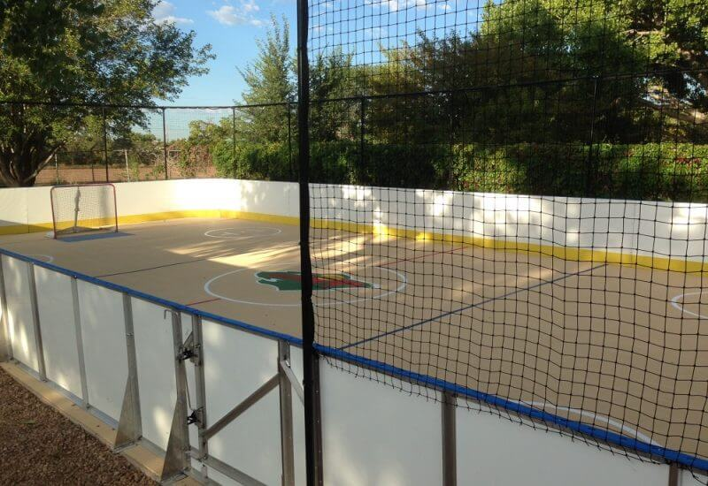 30′ x 60′ Sport Court® Rink - Learn More About Hockey Boards D1 Backyard Rinks