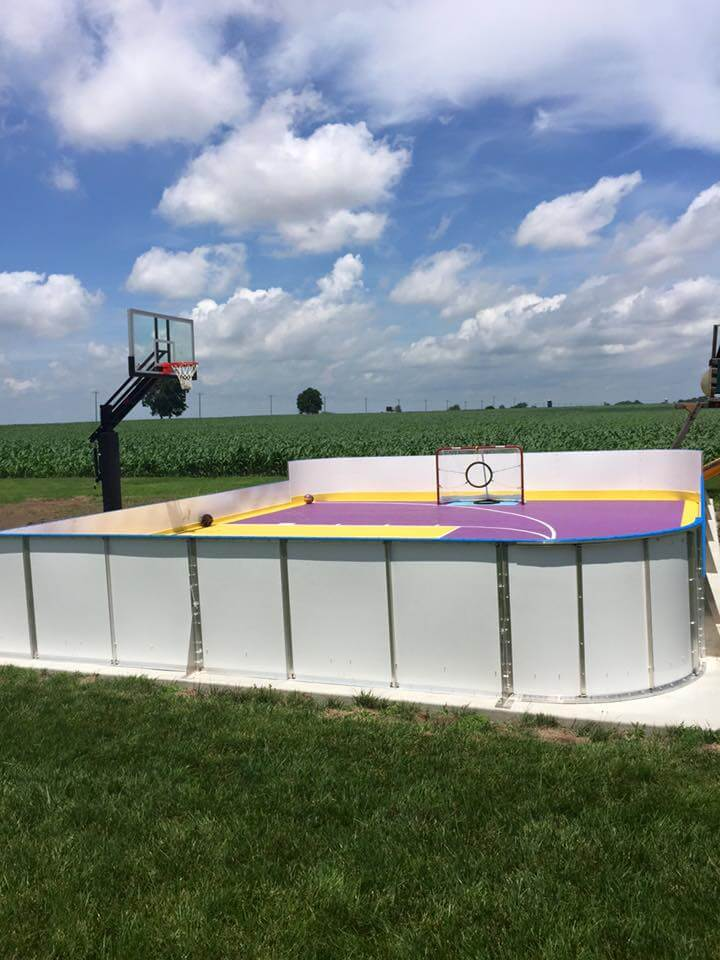 Hockey Boards on Sport Court - Carlyle, IL