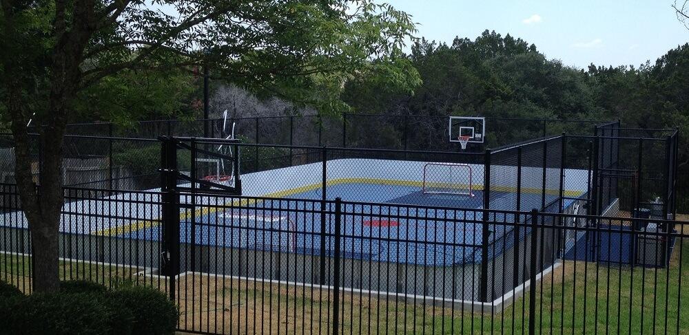 Hockey Boards on Game Court - Austin, TX