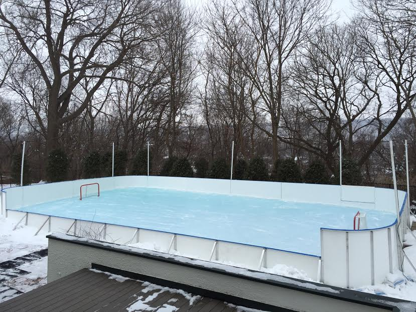 D1 Photo Gallery – Backyard Winter Ice Rink - Winter Ice Rinks Synthetic Ice Rinks & Accessories D1 Backyard Rinks