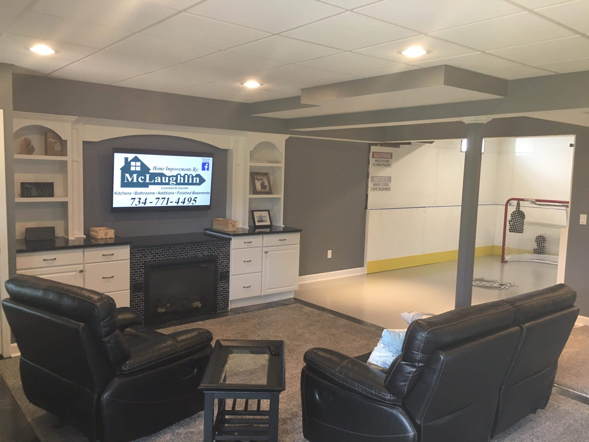 Garage & Basement Ice Rinks | Indoor Ice Rinks | D1 Backyard Rinks