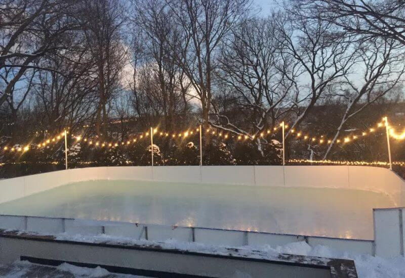 Attractive 20u2032 X 50u2032 Winter Rink 3 Sides Of Tall Boards