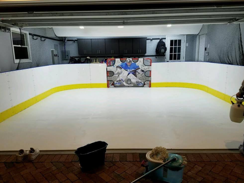 how to build an ice rink in your basement