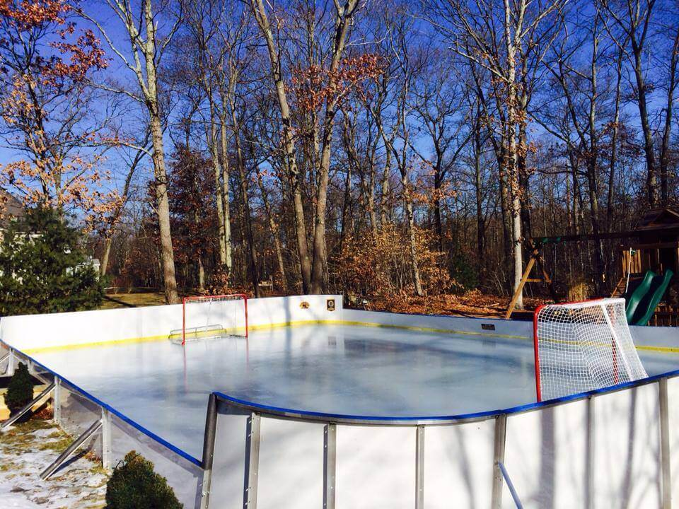 Backyard Winter Rink. Ice Rink Liner