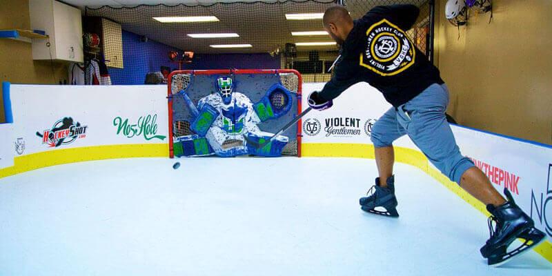 Basement Hockey Shooting Lane