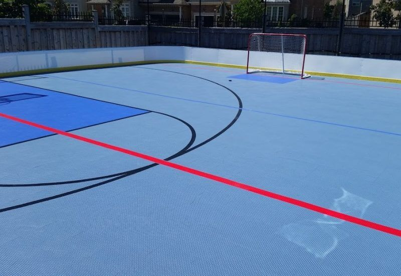 Synthetic Ice Basement And Backyard Rink Kits Hockey Shooting - Backyard roller hockey rink