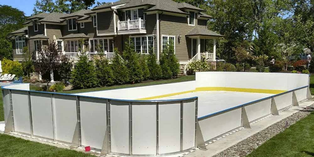 Charming Backyard Synthetic Ice Rink Awesome Design