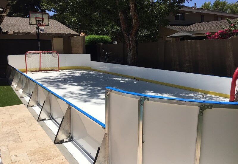 High Quality Backyard Synthetic Ice Rink Amazing Pictures