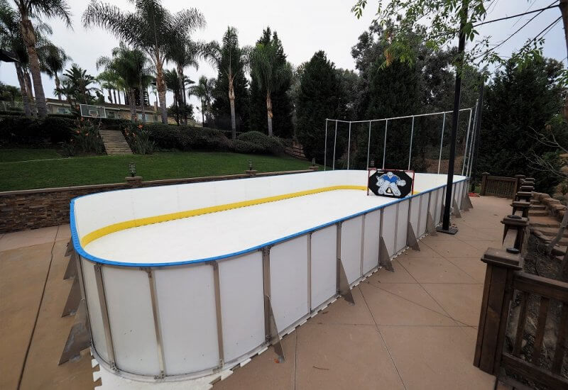 Backyard Synthetic Ice Rink Photo