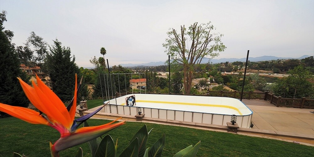 Backyard Synthetic Ice Rink
